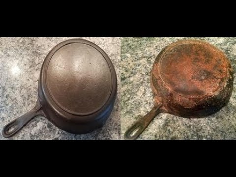 Vintage Cast Iron Overhaul from Cruddy to Like New - Part 1