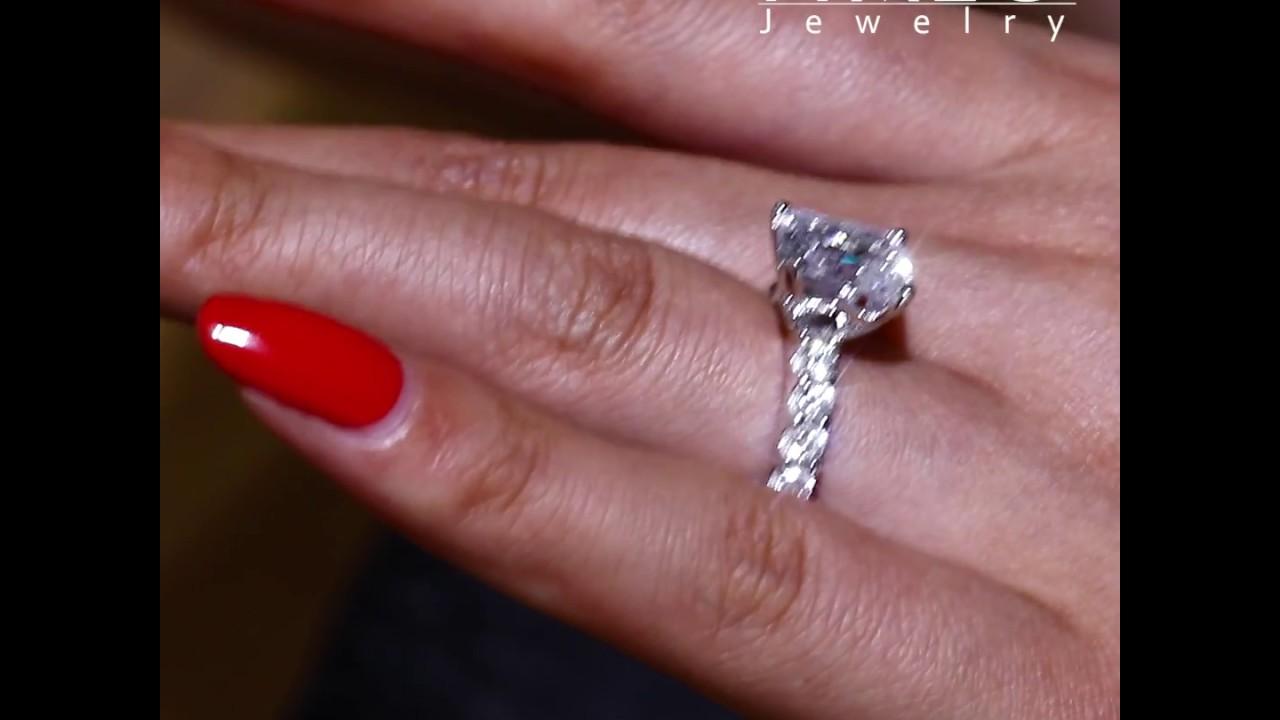 403da20c5d954 Italo Radiant Half Eternity Created White Sapphire Engagement Ring-211277  by Italo Jewelry
