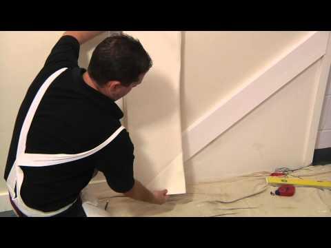 Lincrusta - How to Install Lincrusta Dado Panels on a Staircase