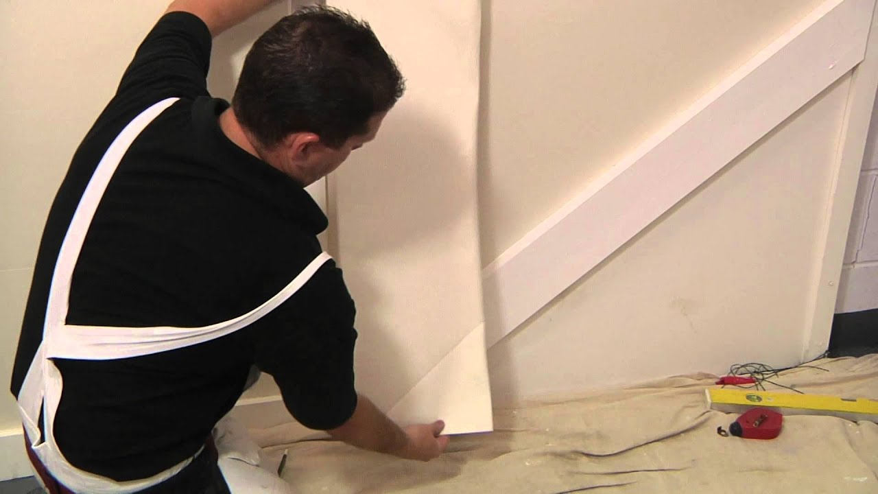 Lincrusta   How To Install Lincrusta Dado Panels On A Staircase   YouTube