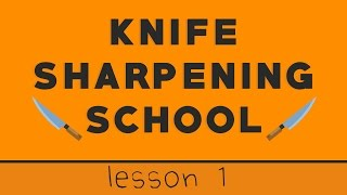 Lesson 1: How To Sharpen Your First Knife