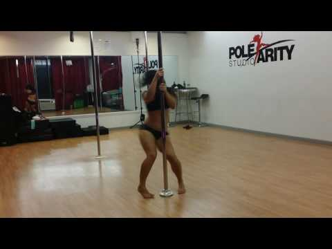 Rika Ocean Pole Dance at HNL Zouk Halloween Party 2016 Polearity