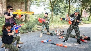 NERF WAR : SWAT Warriors Nerf Guns Fight Bandits Crime Mask Armed Leader SEAL