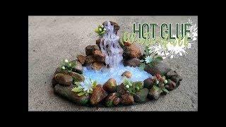 як зробити водоспад з клею