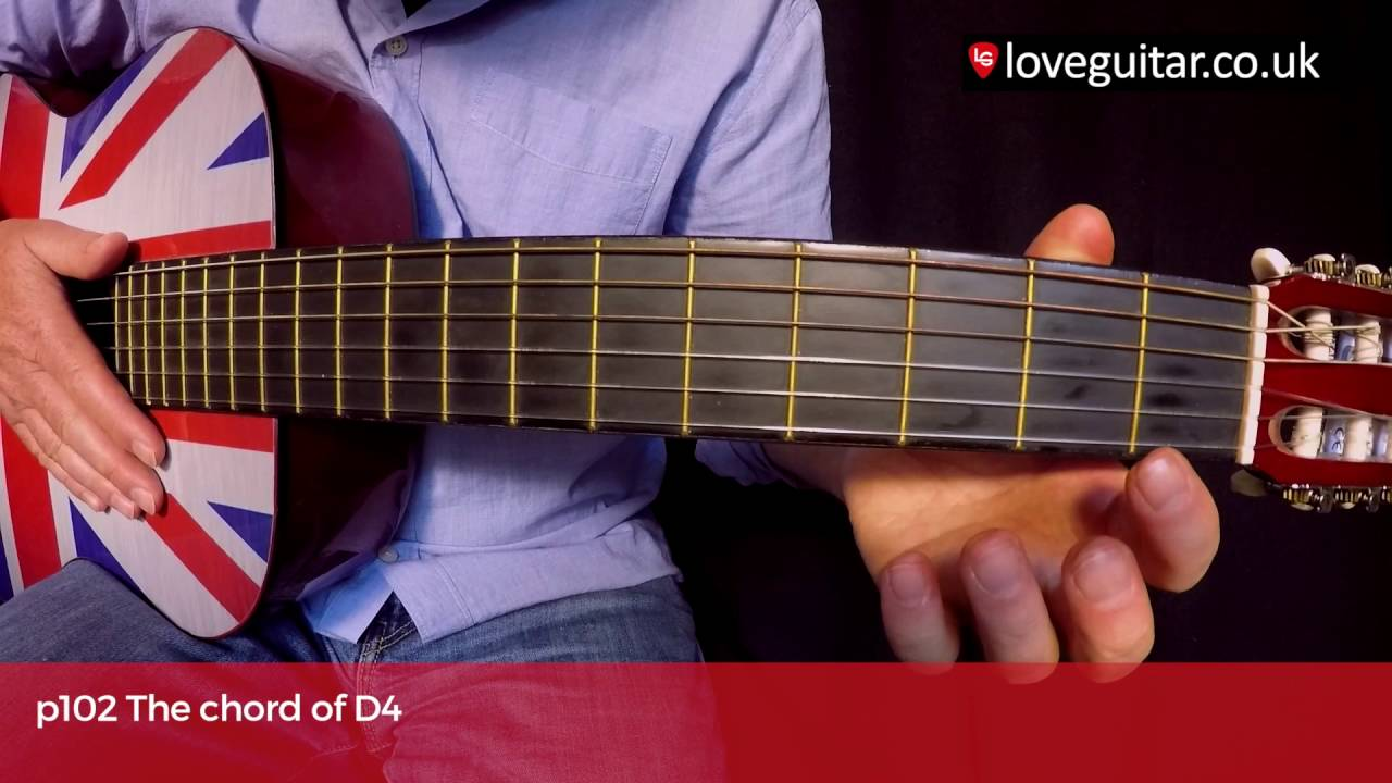 The Chord Of D4 Love Guitar Page 102 Youtube