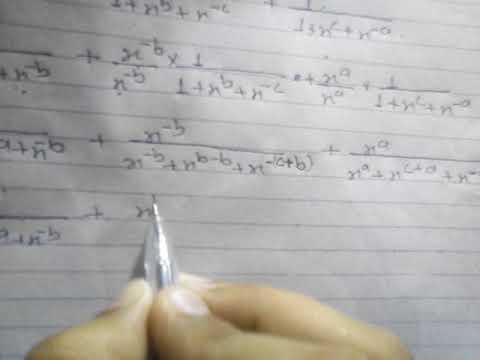 If A+b+c=0 Prove That 1÷[1+x^a+x^-b]+1÷[1+x^b+x^-c]+1÷[1+x^c+x^-a]