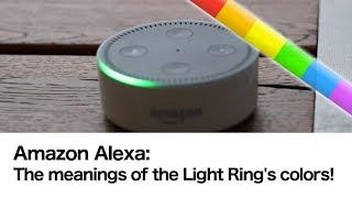 Alexa: Meaning of the Echo Light Ring colors!