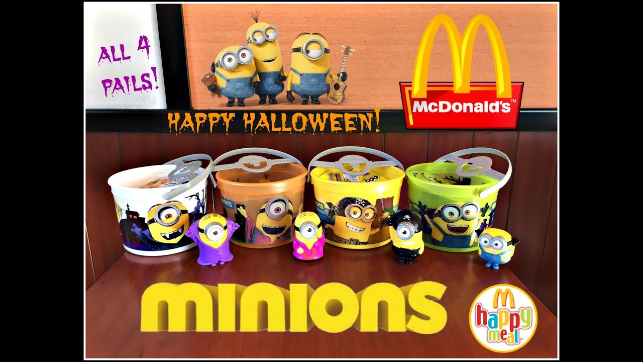 minions halloween pails mcdonalds happy meal toys october 2015! all