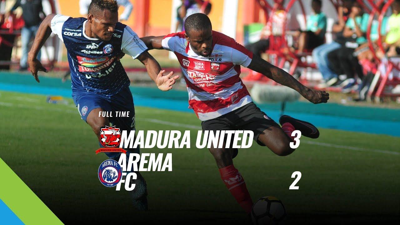 Pekan 5 Cuplikan Pertandingan Madura United Vs Arema Fc 21 April 2018 Youtube