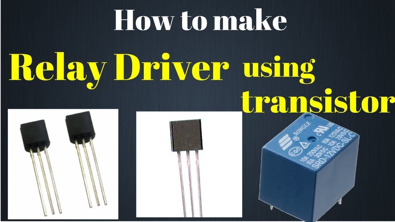 How To Make A Simple Relay Circuit Using Npn Transistor Youtube