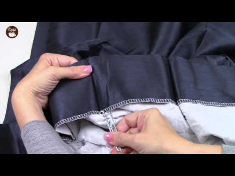 How To Use The Dritz Home Slip On Drapery Hooks