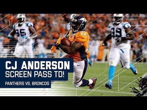 CJ Anderson Screen Pass TD Caps 78-Yard TD Drive! | Panthers vs. Broncos | NFL