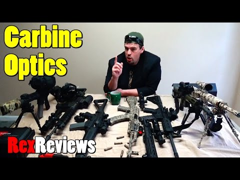 Rex's Favorite Carbine Optics - Red Dots, Fighting Scopes, & Night Vision ~ Rex Reviews