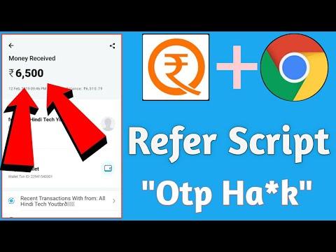 New app refer script in hindi