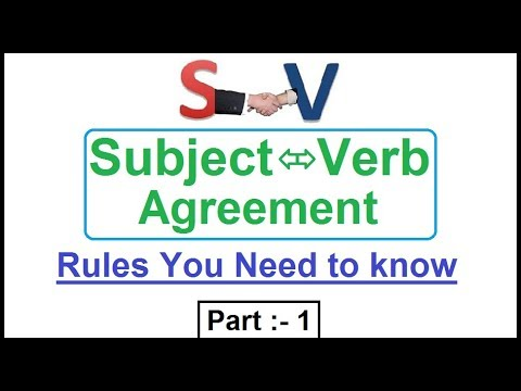 Subject Verb Agreement All Rules English Grammar Part 1