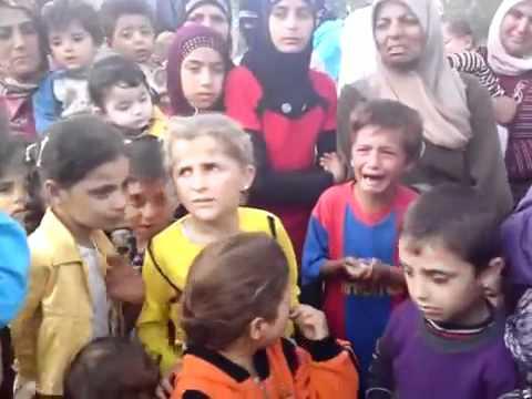 Syria, Idlib, Jisr El Shoghour. Refugee from brutal Syrian army