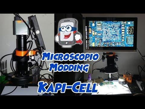 Adaptación de Monitor a Microscopio.