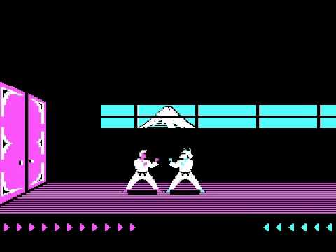 Karateka (1984, Broderbund and Jordan Mechner) Gameplay
