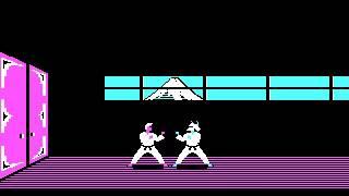 Karateka (1984, Broderbund and Jordan Mechner) Gameplay