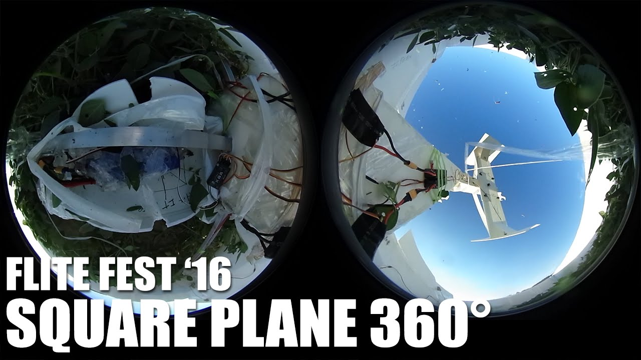 360° GIANT Square Plane (CRASH!) | Flite Fest 2016