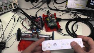 Raspberry Pi robot + Wii controller, Characterized on a MDO4104-6