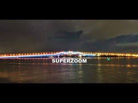 Auckland Harbour Bridge Light Show - Nikon P900