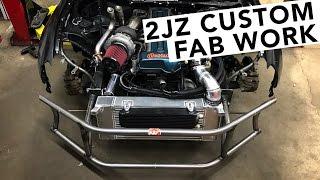2JZ BRZ Drift Build EP05 - Bash Bar, Fuel, Air & Cooling Fabrication