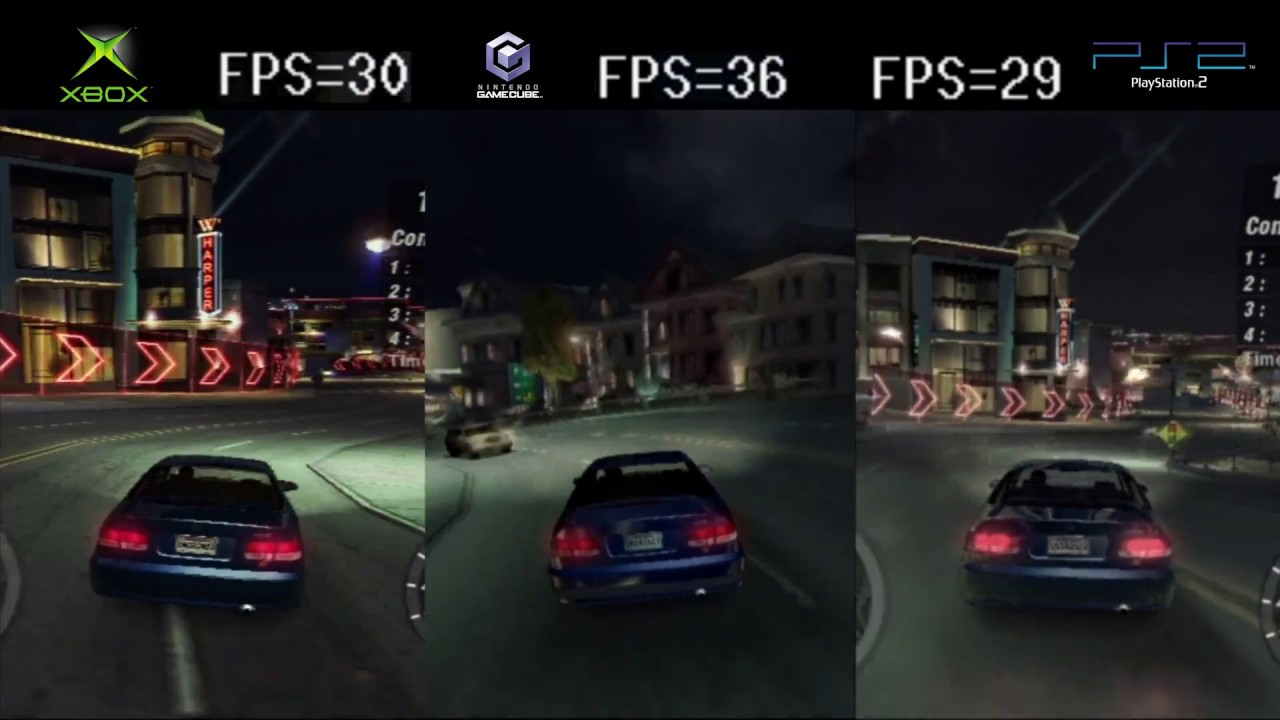nfs underground 2 frame rate ps2 vs xbox vs gc 6gcw. Black Bedroom Furniture Sets. Home Design Ideas