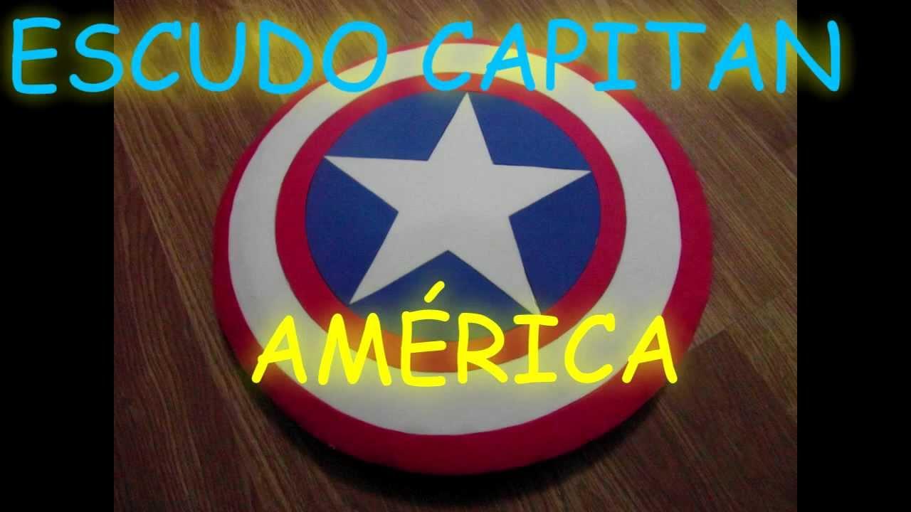 Manualidades Escudo Del Capitan America De Goma Eva Foami Shield