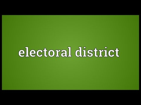 Electoral district Meaning