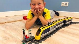 Поезд и Железная дорга Lego 60197 видео для детей Скоростной поезд как в Европе сделали аварию