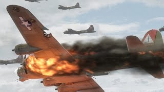 HELL OVER GERMANY: Colour (RARE) Footage of B-17s VS. Luftwaffe (1944, 720p)