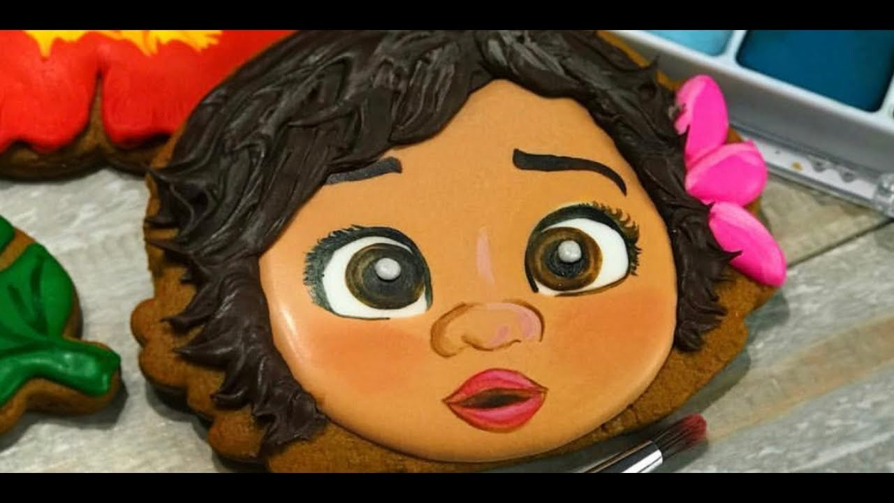 BABY MOANA COOKIE  Quick stepbystep cookie decorating
