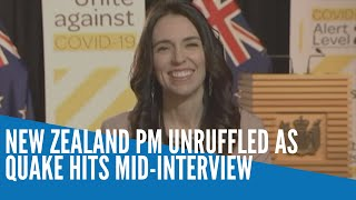 New Zealand PM unruffled as quake hits mid interview