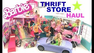 HUGE Barbie THRIFT STORE Toy Haul !! Amazing finds!