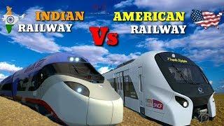 ® ✅ INDIAN Railway Vs AMERICAN Railway   Full Comparison 2018