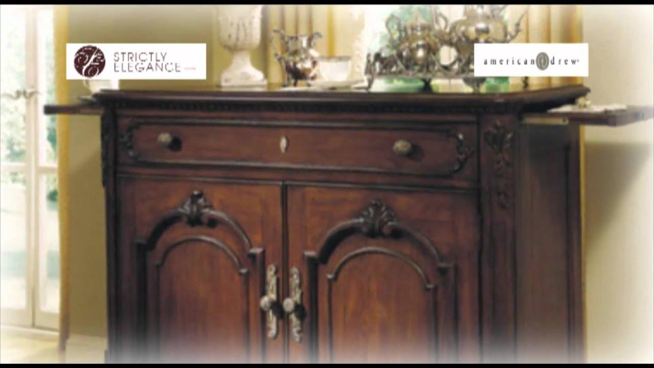 American Drew Jessica McClintock Home Romance Dining Room - YouTube