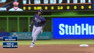 Beckham crushes a solo shot to left field