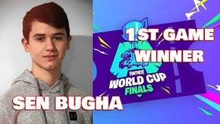 SEN Bugha Wins First Game In Fortnite World Cup Solos with 9 Eliminations