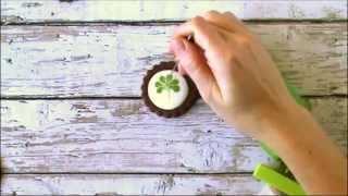 Quick Wet-on-wet Shamrock Cookies