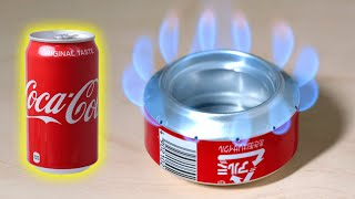 Challenge to recycle Coca-Cola!/ Make a simple alcohol stove (soda can stove)