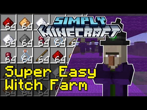Easy Witch Farm Tutorial | Simply Minecraft (Java Edition 1.16)
