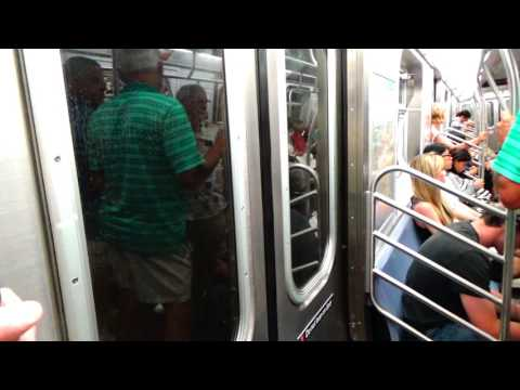 R160 (E) Train from World Trade Center to Times Square: 42nd Street