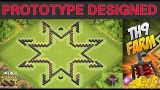 Clash of Clans - (BEST) TH9 Farming Base 2015 w/ 2 Air Sweeper + Speed Build (STARS)