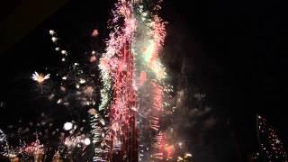 New Year`s Eve 2014 Burj Khalifa Skyscraper in Dubai