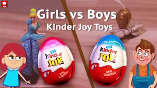 kinder joy toys | boys toys vs girls toys | surprise toys | star wars toys | cinderella toys