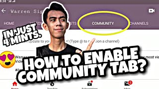 Download HOW TO ENABLE COMMUNITY TAB ON YOUTUBE || 2020 METHOD || EASY TUTORIAL