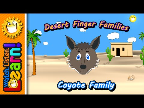 Coyote Finger Family | WLL Desert Finger Family Series thumbnail