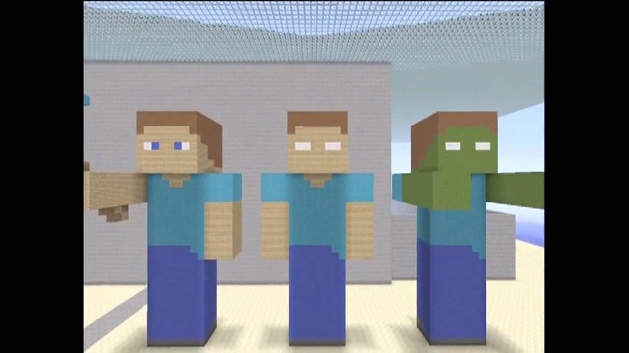 Steve, Herobrine, & Zombie Herobrine Statue- How to