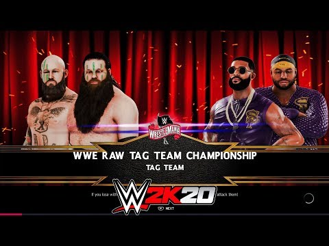 WWE 2K20 Wrestlemania 36 - Viking Raiders Vs Street Profits - Raw Tag Team Championship
